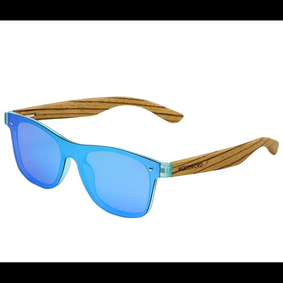 Woodword Other - New Woodword Wood Polarized Sunglasses w/ blue